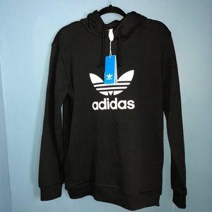 Adidas original trefoil logo hoodie size S black